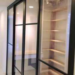 [BESGLAS SINGAPORE] Like windows, doors are a key part of any wall's composition. Here, a beautiful MOVI Sliding doors separate the