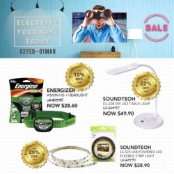 [Home-Fix Singapore] Be Electrified by these Home-Fix Deals with Energizer & SoundTeoh!For more February Promotions, visit Home-Fix Website at http://