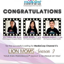 [Kids Performing™ Academy of the Arts] Yay! Another one added to the #MediaCorp Channel 5's #LionMoms 😁 CONGRATULATIONS JJ! 🎊🎉 - - #JadrianHurley is our DSA Student. #DSAPreparatoryCourse offers