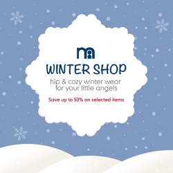 [Mothercare] Planning a late-winter snowy holiday?✈❄ Check out our Winter Wear Shop offers and enjoy up to 50% off selected