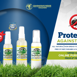 [Lemongrass House] Online Special Promotion for Our Award winning All Natural Mosquito Repellent!* http://bit.ly/LGHInsectRepellents