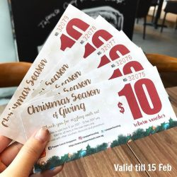 [PEPPER LUNCH] Still holding onto our Christmas gift for you?Drop by to use your vouchers before they expire on 15 Feb! #