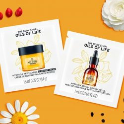 [The Body Shop Singapore] Say Yes to Radiant Skin! Claim your free samples of our Oils of Life™ Intensely Revitalising Facial Oil & Sleeping Cream