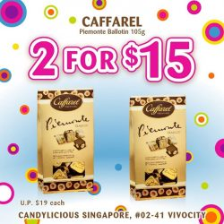 [Candylicious] Kicking off February with two new promotions! Caffarel Giaduia Ballotin is now available at 2 for S$19 and Piemonte