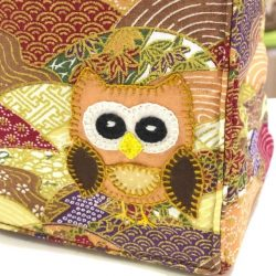 [Bloom Selection] Owl Water Bottle Handbag bag Japanese Fabric Cotton - S$19One of a Kind, Water Bottle Bag made in beautiful