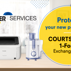 [Courts] Replace any defective purchases instantly from as low as $9.90* with COURTS Cover 1-for-1 Exchange Plan.Simply