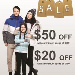 [ColdWear] Sale now on! Spend $180 and get $20 off Spend $380 and get $50 off Participating Stores: Causeway Point #03-