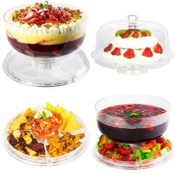 [Kitchen + Ware] Multi-function Cake Stand that can double as a punch bowl, trifle bowl, crudites tray or more!