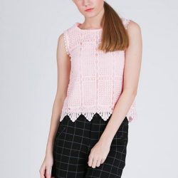"[MOSS] Shop "" FUMIKO TOP IN LACE "" in ours 50% STOREWIDE SALE!Original Retail Price   - $55.90,  After 50% off - $27.95"