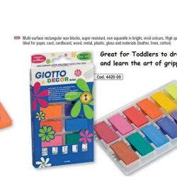 [ResearchBooks Asia] Introducing Giotto Decor Wax/ Crayons in Square Blocks 12 cols from ITALY!!** GREAT FOR BABIES/ TODS WHO HAVE NOT LEARN