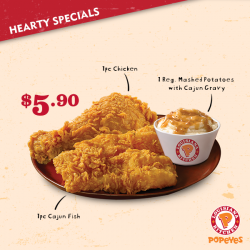 [Popeyes Louisiana Kitchen Singapore] Even if you don't get lucky yesterday, just remember that you are loved… by this deal.
