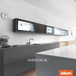 [Blum & Co] Special solutions to full interior access – AVENTOS HL.The single front that lifts vertically is ideal for medium-sized cabinets.