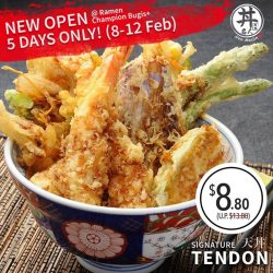 [Ramen Champion Singapore] DON MEIJIN 5 DAYS GRAND OPENING OFFER BEGINS TODAY!! See you there!!** Don Meijin is available at Ramen Champion Bugis+