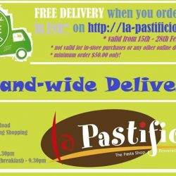 [LA PASTIFICIO] FREE DELIVERY this month (15/02/17 - 28/02/17) when you order from our website http://la-pastificio.com/ !
