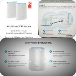 [E-Gadget Mini] Always having trouble with home WIFI? One stop solution - Netgear Orbi High performance AC3000 Tri - Band wifi system. 6 high