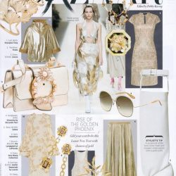 [LaPrendo] The Ole Lynggaard Copenhagen Corporate Page Small Branch brooch as featured in the Golden Phoenix story in Harper's BAZAAR,