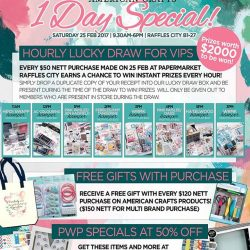 [Papermarket] Check out what specials we have in store for you on our event day!! Mark your calendars and join us