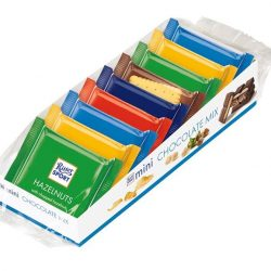 [The Cocoa Trees] Our Ritter Sport Mini 9's Box offers something for everyone! Flavours include Hazelnuts, Marzipan, Praline, Cornflakes, Yoghurt, Milk Chocolate