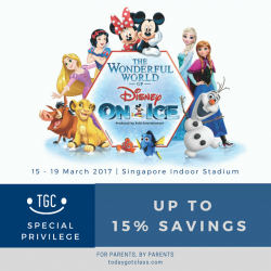 [My Gym Children's Fitness Singapore] Hey peeps, here's more perks for you! Our partner, Today Got Class is offering discounts for tickets to Disney