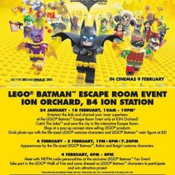 [Bricks World (LEGO Exclusive)] LEGO Batman Escape RoomPlease note that the LEGO Batman Escape Room event will be closed from 5-7pm this