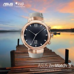 [ASUS] With the meticulous craftsmanship and timeless design of a fine mechanical watch, ASUS ZenWatch 3 is a timepiece you'll
