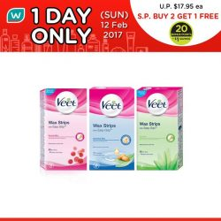 [Watsons Singapore] Get the lasting smoothness your skin deserves! Here's the 2nd of our exciting 1 DAY DEAL: BUY 2 GET
