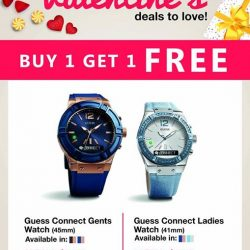 [CHALLENGER MINI] This Valentine's Day, be stylish in your gear with your significant other with Guess smart watches. Enjoy this buy