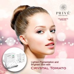 [Prive Aesthetics] Achieve skin whitening and beauty from within! Crystal Tomato natural supplement promotes even skin tone and radiant complexion, while protecting