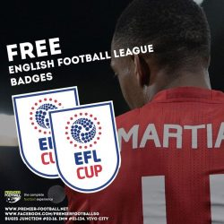 [Premier Football Singapore] FREE English Football League Cup badges with every purchase of the Manchester United 16/17 jersey with Manchester United 15/