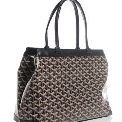 93b9c71bbce9  MADAM MILAN  Goyard Chevron Bellechasse PM Tote Black Condition 95%new.