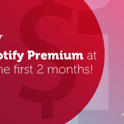 [Stellar - Silver . Ear Piercing] Groove to unlimited ad-free music on Spotify Premium with no data charges! Plus, save $2/mth thereafter with Singtel