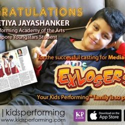 [Kids Performing™ Academy of the Arts] We are so proud to share that our very own student, AADEETIYA, was successfully casted in Mediacorp's OKTO ExLosers 😍🎊🎉 -