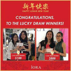 [IORA] Thank you for your support! Look forward to more of our promotions in this year. #iorasg #cny #promotion