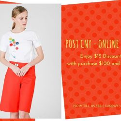[MOSS] Post CNY Sale is On!Enjoy $15 Off with purchase $100 & aboveDiscount till 5 FEB ( Sun ) 11.59 pm