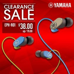 [YAMAHA MUSIC SQUARE] Yamaha eShop Clearance Sale for these earphones will end tomorrow 28 February!
