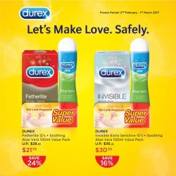 [Watsons Singapore] For a limited time only, save up to 25% off at Watsons with the Durex Fetherlite 12s/ Invisible Extra Sensitive