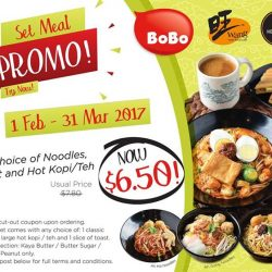 [Heavenly Wang] Enjoy Wang Cafe and Heavenly Wang noodles set at only $6.50 with any purchase of BoBo tray-packed products