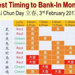 Best Timings to Deposit Cash on 立春 (Li Chun) 3rd February 2017!