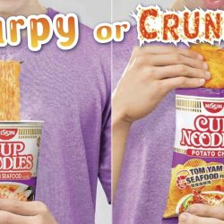 NTUC FairPrice: NEW Nissin Cup Noodles Potato Chips (Tom Yam Seafood/Black Pepper Crab)!