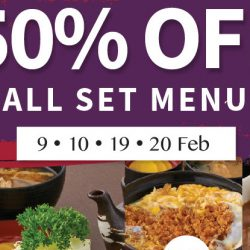 Ginza Bairin: 90th Anniversary - 50% OFF ALL Set Menus on 9th, 10th, 19th, 20th Feb!