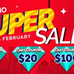 Qoo10: Super Sale is BACK with $5, $20 & $100 Cart Coupons Up for Grabs!