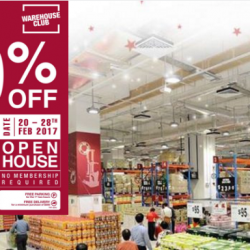 NTUC Warehouse Club: Open to All Renovation Clearance Sale Up to 90% OFF