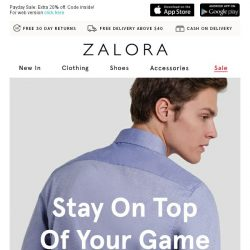 [Zalora] The TOP-notch staples you deserve...
