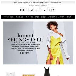 [NET-A-PORTER] Spring style starts here