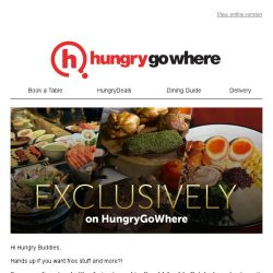 [HungryGoWhere] EXCLUSIVE: 1-for-1 Weekend Buffet, 50% off every 2nd Diner with Complimentary Bottle of Wine, 35% off Total Bill & more exclusive deals to get you hooked!