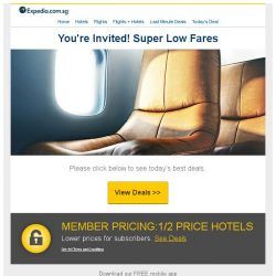 [Expedia] ⚑ Confirmed! You've scored awesome discounted flight s p e c i a l s