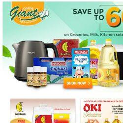 [Giant] March Into Spring! Deals Up To 60% On Kitchen Set, Groceries, Milk, And More...