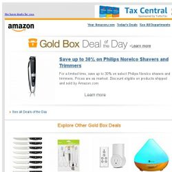 [Amazon] Save up to 30% on Philips Norelco Shavers and T...