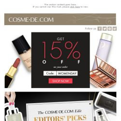 [COSME-DE.com] Discover Your Womenality, great beauty offers for Women's Day!