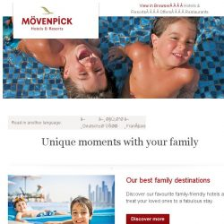 [Mövenpick Hotels & Resorts] Unique moments with your family